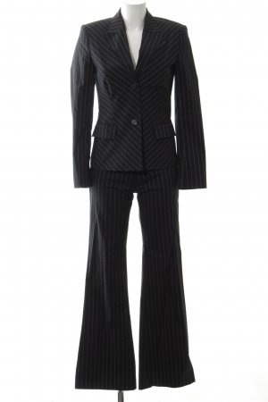 Zero Pinstripe Suit black-white striped pattern business style