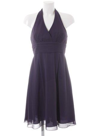 Zero Vestido de cuello Halter violeta oscuro elegante