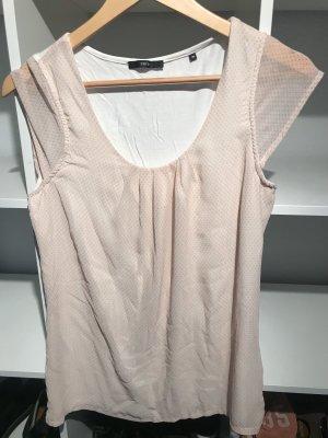 Zero Top lungo color oro rosa-crema