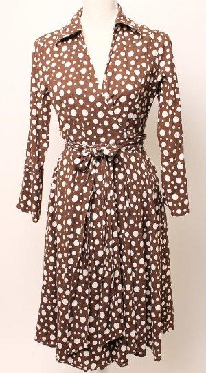 Zero Pünktchenkleid Kleid 38 m braun weiß Punkte polka dots retro 50s
