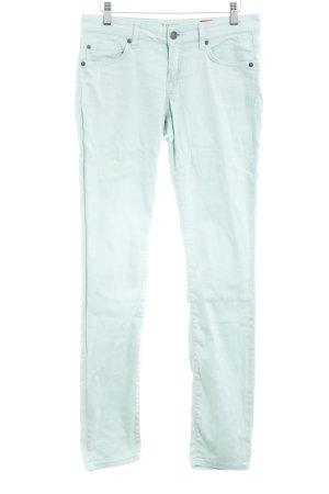 Zero Drainpipe Trousers pale green casual look