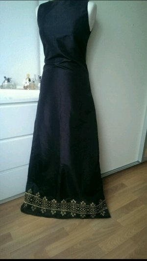 Zero's Satin Abend-Ballkleid m. gold Stickerei Neuw. !