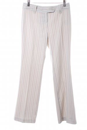 Zero Flares cream striped pattern business style