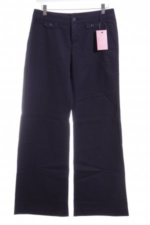 Zero Pantalon pattes d'éléphant bleu foncé motif rayé style décontracté