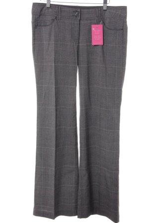 Zero Pantalon pattes d'éléphant motif à carreaux style d'affaires