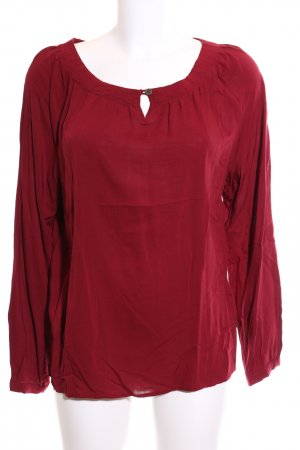 Zero Slip-over blouse rood casual uitstraling