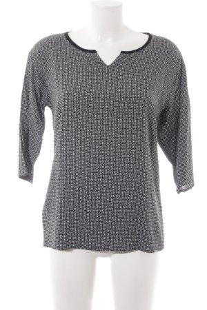 Zero Schlupf-Bluse abstraktes Muster Casual-Look