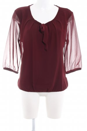 Zero Slip-over blouse karmijn elegant