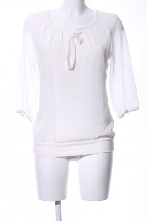 Zero Tie-neck Blouse white business style