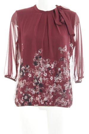 Zero Blusa con lazo estampado floral look casual