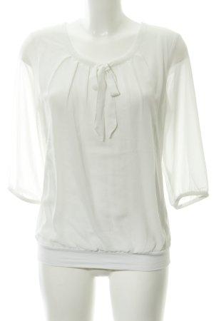 Zero Blusa con lazo blanco look casual