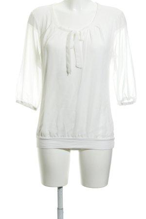 Zero Schluppen-Bluse weiß Elegant