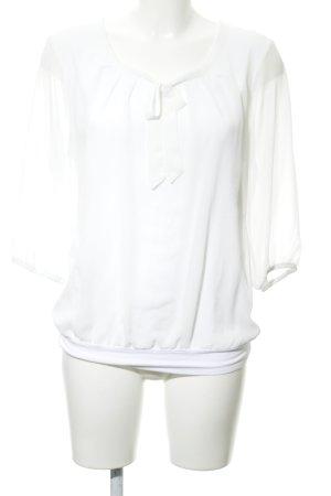 Zero Blusa con lazo blanco puro look casual