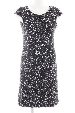 Zero schulterfreies Kleid schwarz-weiß abstraktes Muster Casual-Look