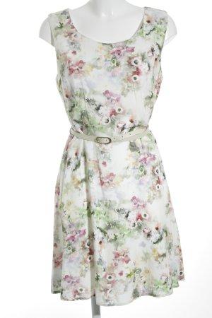 Zero schulterfreies Kleid Blumenmuster klassischer Stil