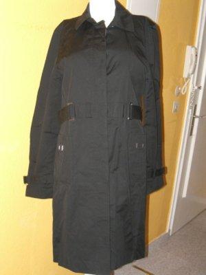 Zero schwarze Trench Trenchcoat Jacke Gr. 38