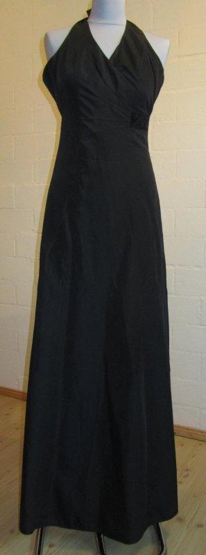 ZERO: Schwarzes langes Abendkleid, Neckholder, Gr. 34