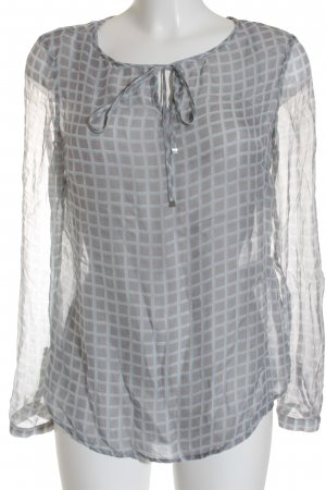 Zero Silk Blouse check pattern transparent look