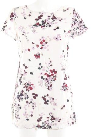 Zero Vestido estilo camisa estampado floral look casual