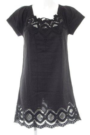Zero Vestido estilo camisa negro look casual