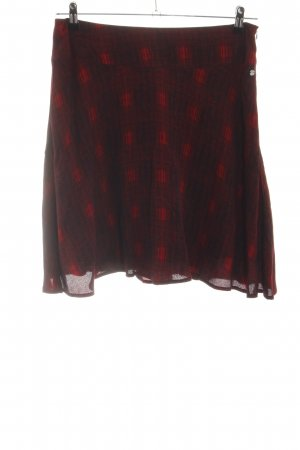 Zero Skater Skirt red abstract pattern casual look
