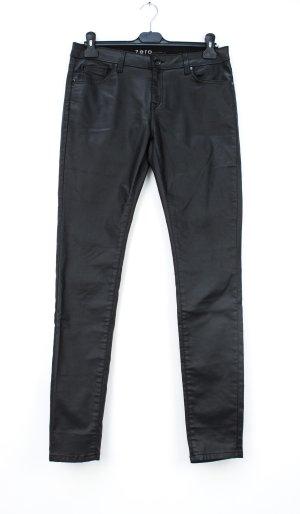 Zero Pantalon strech noir-argenté