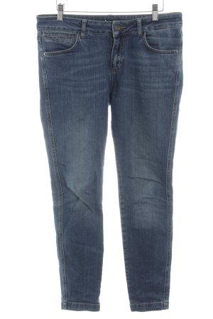 Zero Skinny Jeans dunkelblau Logo-Applikation