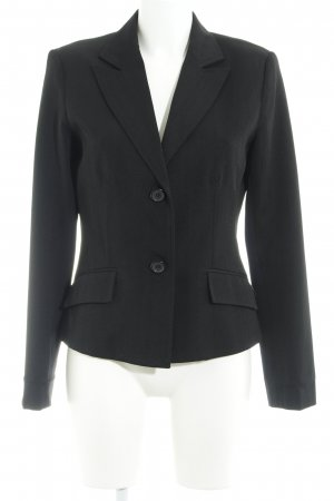 Zero Smoking-Blazer schwarz Streifenmuster Business-Look