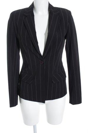 Zero Blazer de esmoquin negro-blanco puro raya diplomática estilo «business»
