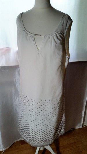 Zero Sommerkleid Etuikleid Gr 40 Creme mit Punkten in Taube