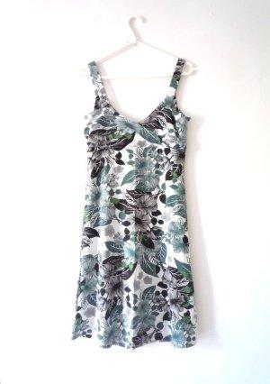ZERO Sommerkleid mit Blumendruck, grün, schwarz, weiß