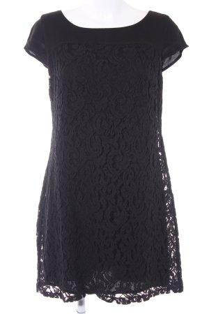 Zero Spitzenkleid schwarz abstraktes Muster Elegant