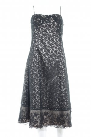 Zero Spitzenkleid schwarz-creme Elegant