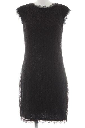 Zero Robe en dentelle noir motif floral élégant