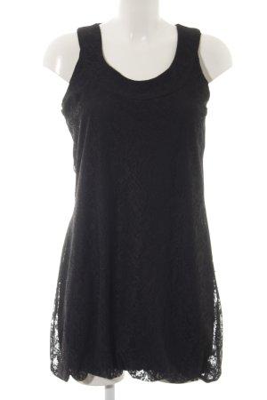 Zero Robe en dentelle noir motif floral Aspect de dentelles