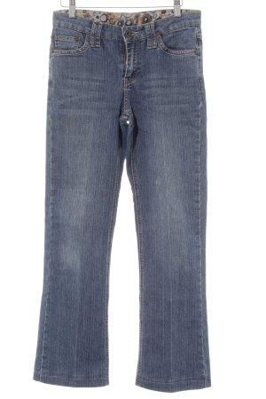 Zero Jeans met rechte pijpen staalblauw-korenblauw casual uitstraling