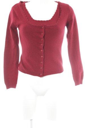 Zero Ensemble en tricot rouge foncé style classique