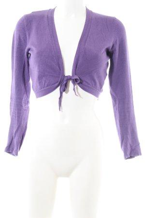 Zero Boléro en tricot violet style décontracté