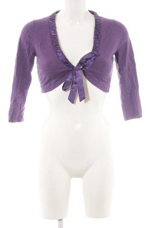 Zero Knitted Bolero blue violet casual look