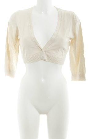 Zero Boléro en tricot beige clair Motif de tissage élégant