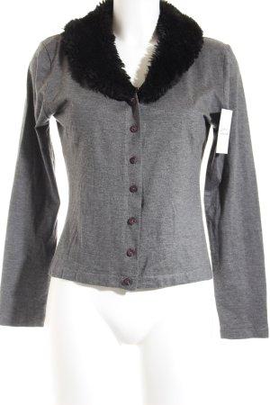 Zero Strickjacke grau-schwarz klassischer Stil