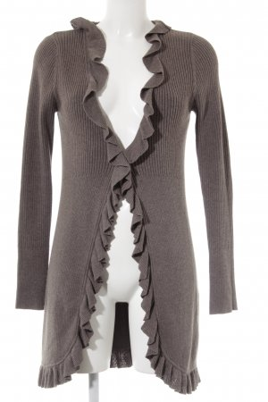 Zero Strickjacke hellbraun Casual-Look