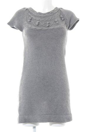 Zero Robe en maille tricotées gris style décontracté