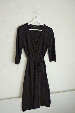 Zero Strickkleid Midikleid Kleid M 40 schwarz Fashion Blogger elegant