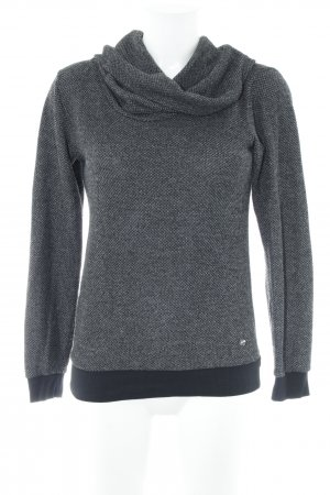 Zero Strickpullover anthrazit Webmuster Casual-Look