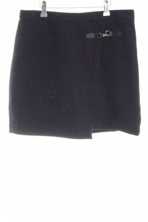 Zero Knitted Skirt black flecked casual look
