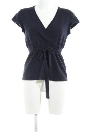 Zero Camicia maglia blu scuro stile casual