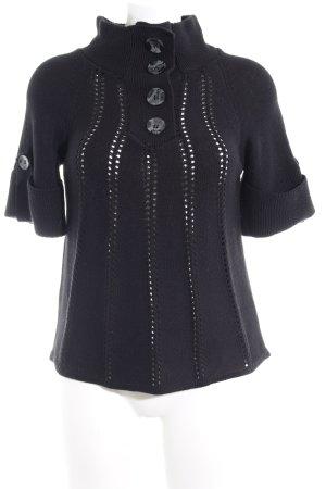 Zero Camisa tejida negro modelo de punto flojo look casual
