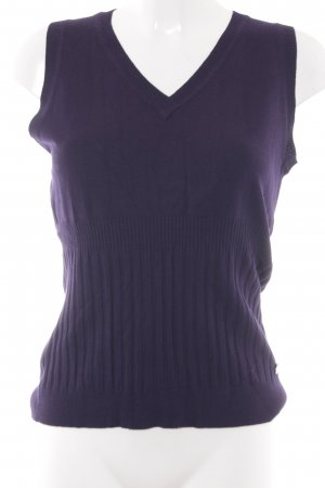 Zero Knitted Top brown violet weave pattern business style