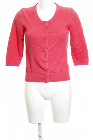 Zero Gilet tricoté rouge clair style décontracté